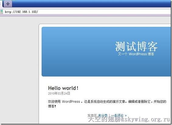 测试wordpress